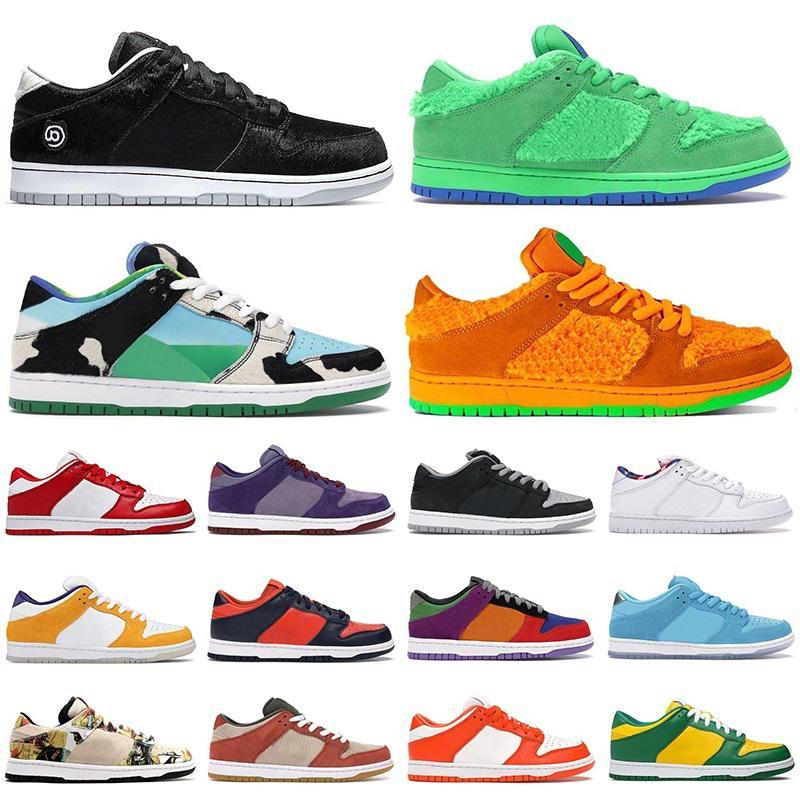 New nike sb dunk Medicom Toy chunky dunky low hombres mujeres zapatillas para correr BE @ RBRICK ACG Terra Bears Green Black Cement zapatillas deportivas para hombre