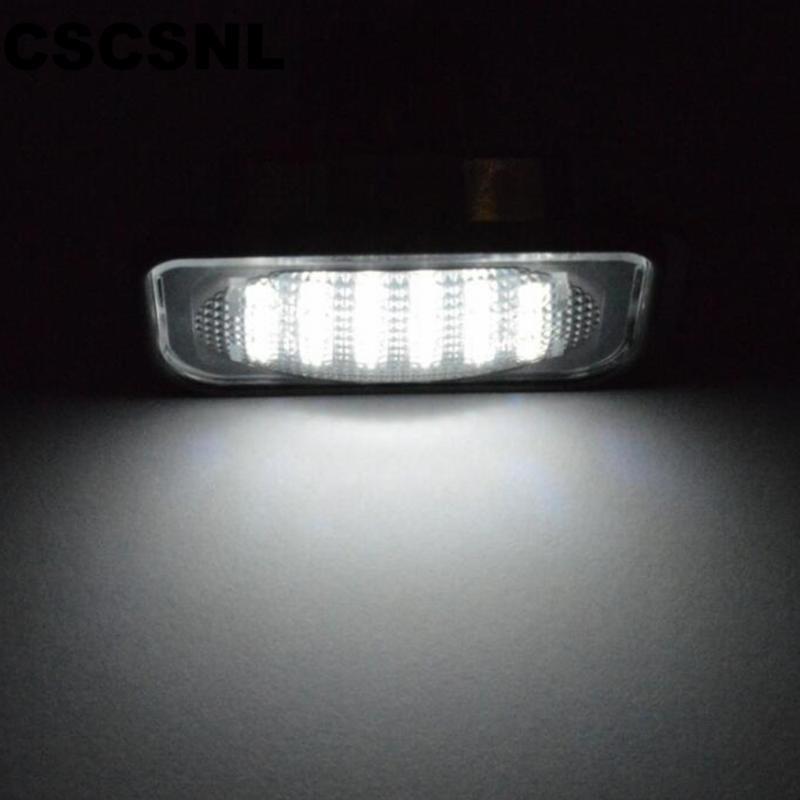 CSCSNL 1 Paar weiße geführte Kfz-Kennzeichen-Licht für W203 Auto Kennzeichenleuchte Für W203 4door 2001-2007