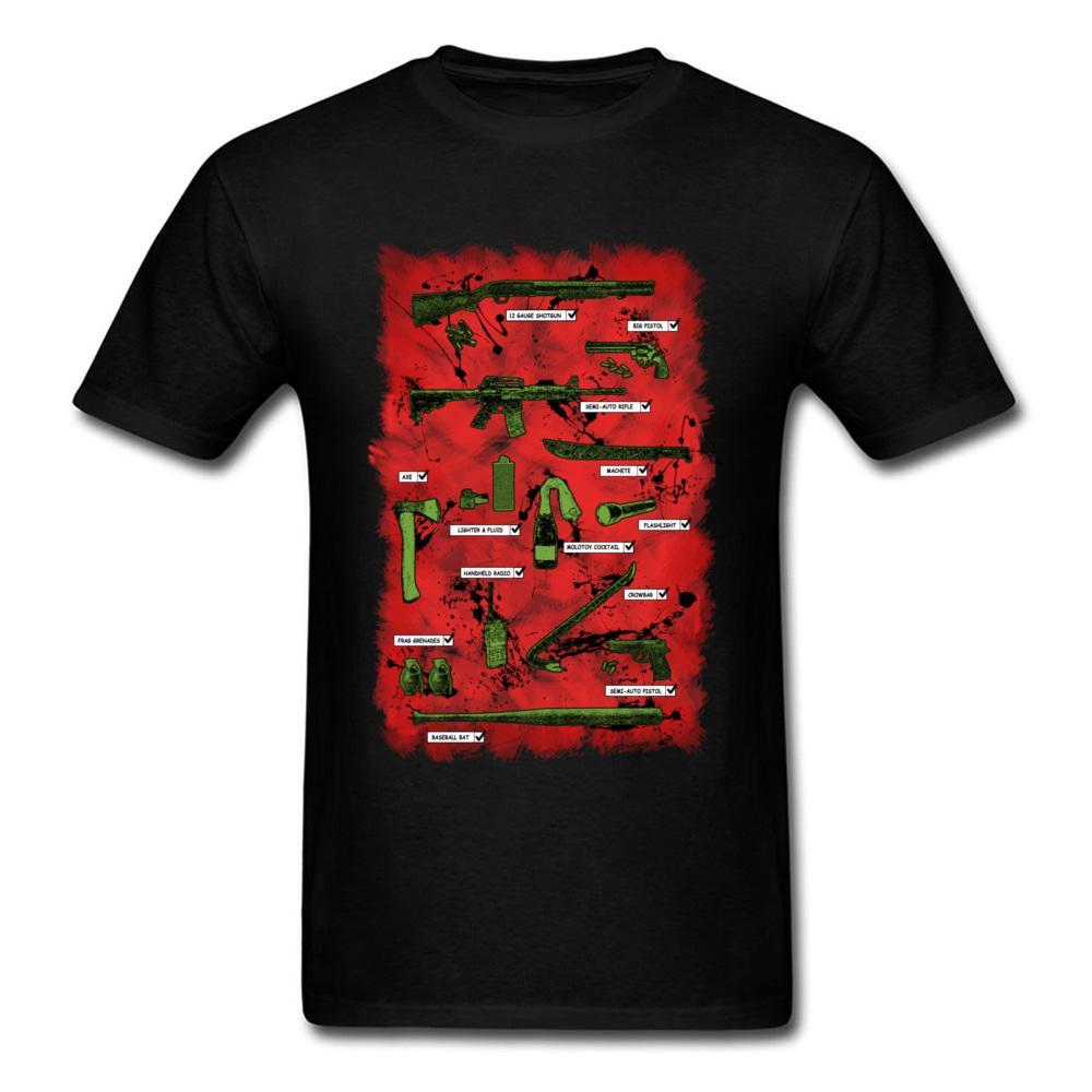 2020 Anti-Walker Homme T-shirt de l'équipe T-shirts Vintage Top bras noir à manches courtes rouge T-shirts imprimés Homme Liste Défense