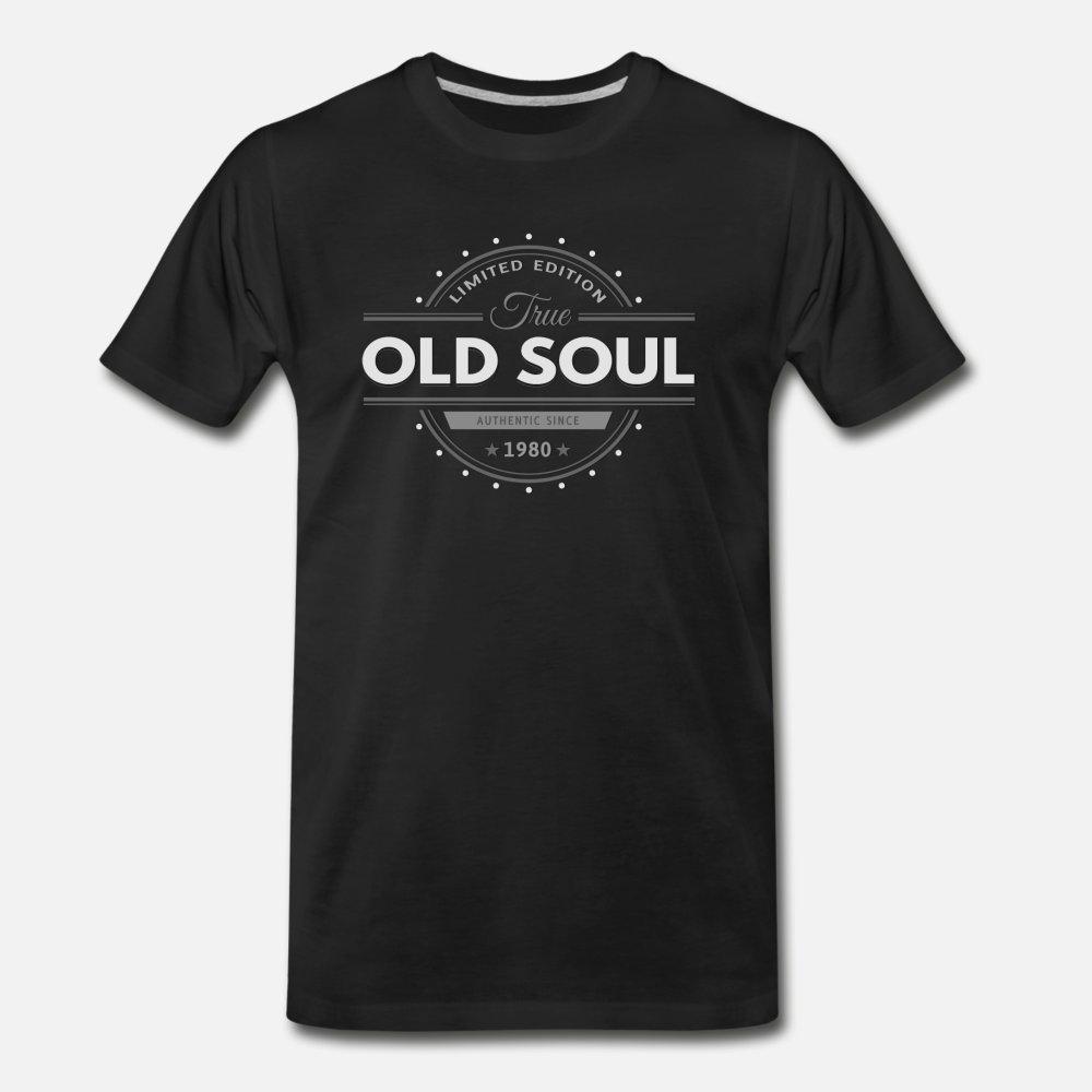 Doğum 1980 Yaşlı Ruh Vintage Klasik Sürümü t gömlek erkekler Custom% 100 pamuk Ç Boyun Standart Gevşek Komik İlkbahar Sonbahar serin gömlek