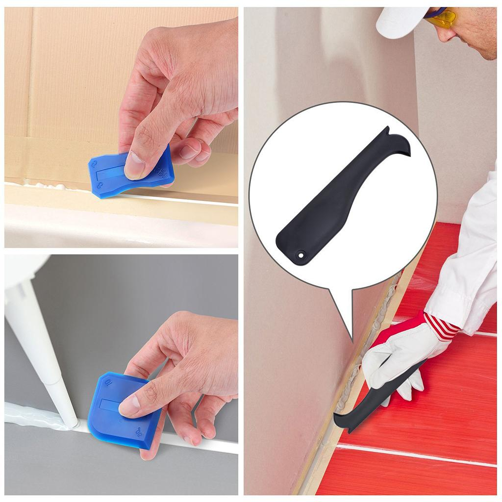3 Sets Scraper Caulking Grout Spreader Sealant Cleaning Kit Tool Nozzle