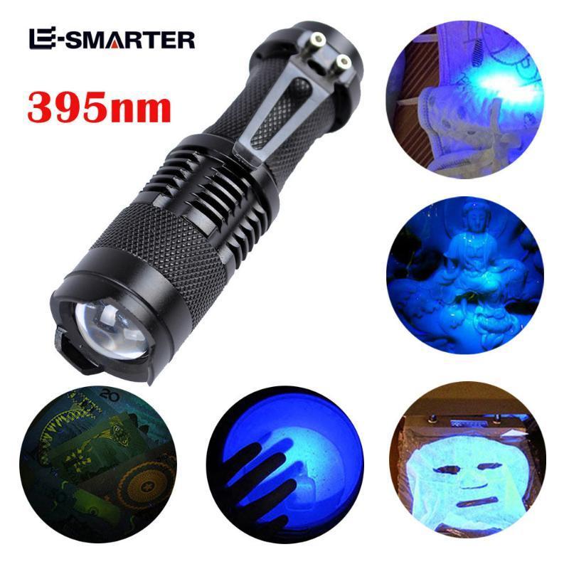 UV Ultra Violet tactique LED Blacklight lumière de la lampe 395 nM d'inspection de la flamme Lanterne étanche puissant