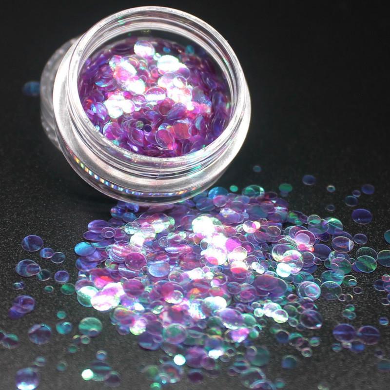 2020 NOUVEAU 12Color ronde Ultrathin Paillettes coloré Nail Art Glitter Conseils de manucure 3D Nail décoration DIY Accessoires Fashion Girl