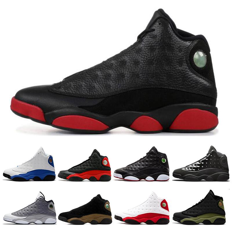 2020 Isola Verde scarpe 13 13s uomini di pallacanestro viola corte fortunato verde sporco sportivi Bred scarpe da tennis di dimensioni 7-13 scarpe