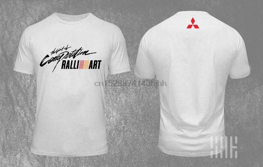 NOVO Últimas Design T-shirt do logotipo Mit Lancer Evolution X Rally Art Car 2019 Mais recente Homens engraçado Streetwear Tees camisetas