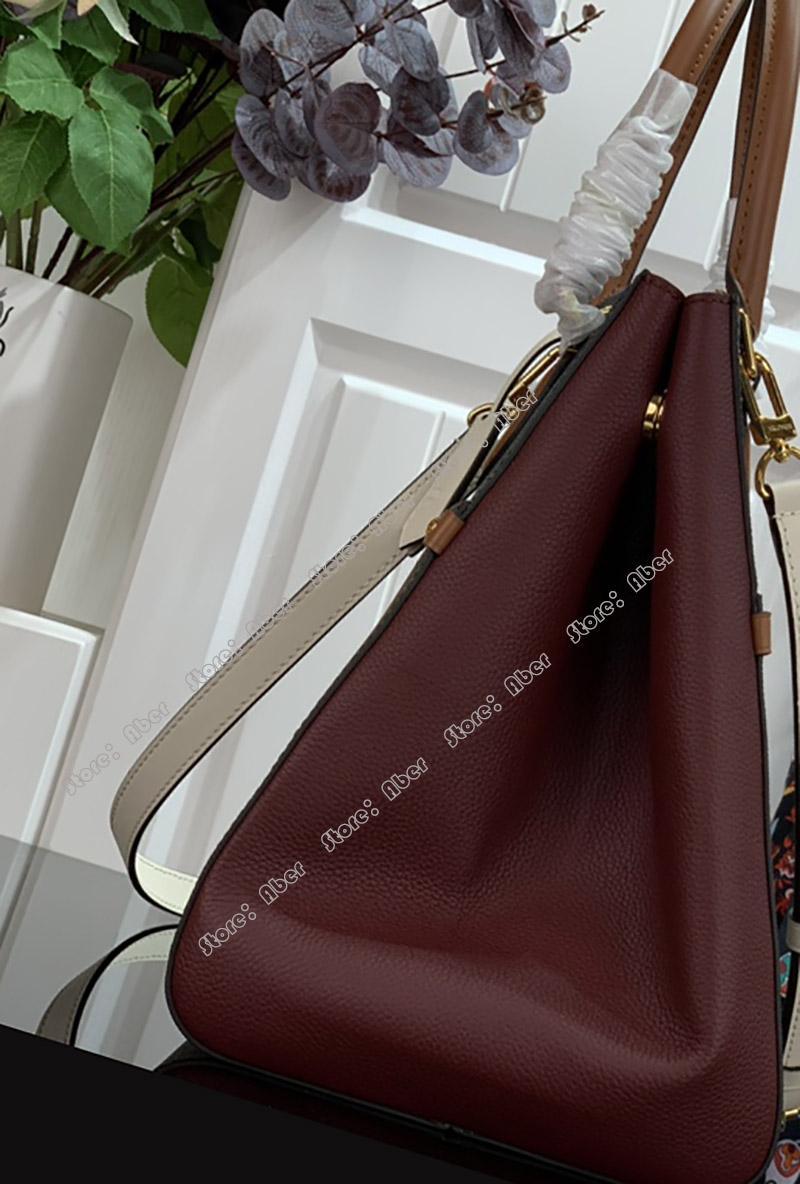 Aber Top qualité Sac bandoulière pour les femmes Sac à bandoulière Designer Sacs femmes motif fleurs en cuir véritable docteur sac à main