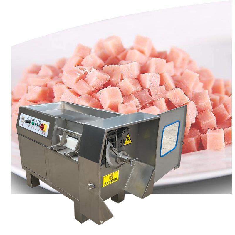 Factory direct commercial automatic dicing machine stainless steel fresh meat dicing machine micro-frozen meat dicing machine 38