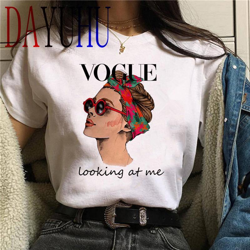 Vogue principessa Kawaii Harajuku maglietta Donne Ullzang Carino maglietta grunge estetica grafica della maglietta 90s Fashion Top Tees femminile