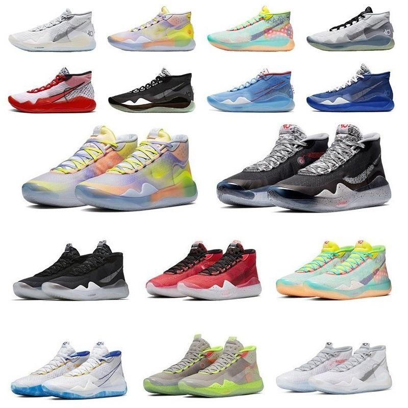 Hot Boys Crianças Kevin Durant KD 12 12S Homens KD12 XII Formadores Zoom Meninas Jovens Mulheres tênis de basquete Elite Esporte Sneakers 36-40 v1mV #