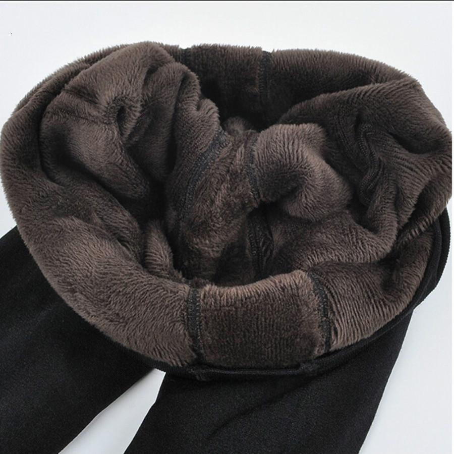 여성의 플러스 벨벳 겨울 레깅스 발목 길이가 따뜻한 솔리드 바지 높은 허리 큰 사이즈 여성 레깅스를 유지 따뜻하게