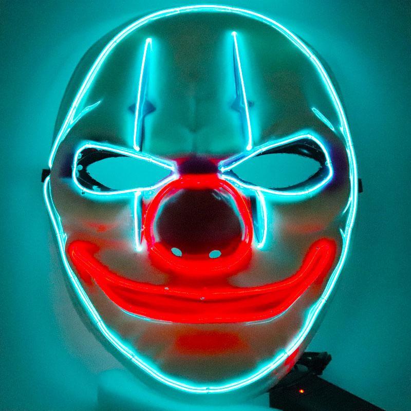 Payday 2 Клоун Маска Payday2 игры Тема Хэллоуина маски Светящиеся линии Праздник Реквизит партии Маски Dropshipping F0701