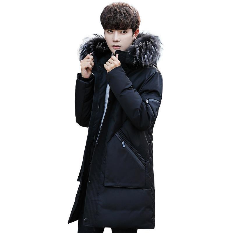 Les nouveaux hommes vers le bas col de fourrure Acket manteau d'hiver Casual capuche Vestes Hommes Outdoor Fashion Épaissir