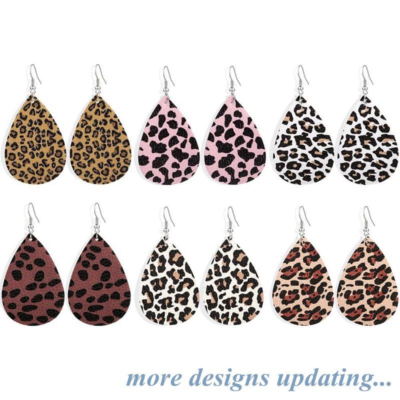PU orecchini semplici gioielli Leopard orecchini a goccia orecchini di goccia donne pendente di goccia dell'acqua Vintage regalo YFA2552 spedizione gratuita