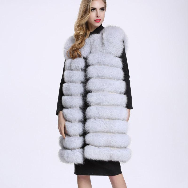 Savabien fausse fourrure Gilet d'hiver Femmes épais chaud mince Furry en fausse fourrure Manteau Blanc vieilli Fluffy Fausse veste festival Waistcoat