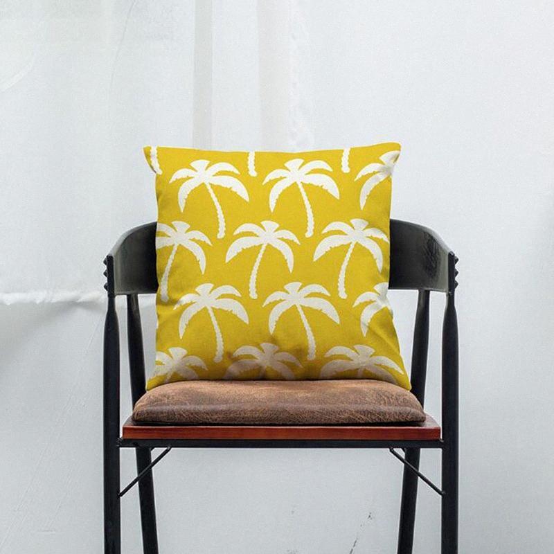 Stripe géométrie lin Coussin simple motif Taie d'oreiller pour la maison Canapé Chaise décoratifs Pillowcases 45x45cm vgGE #