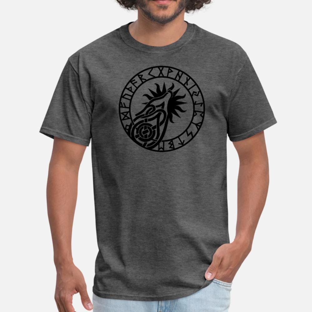 Fenrir neri uomini della maglietta lavorata a maglia maglietta S-XXXL homme camicia famoso New Style Tempo libero Estate