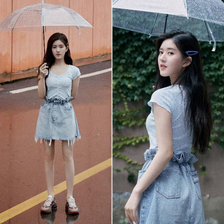 Cbphf Чжао цветочный же синий Lusi футболка кардиган пальто верхней корейской пригонки короткие онлайн Celebrity трикотажные женские пальто женские ины топ