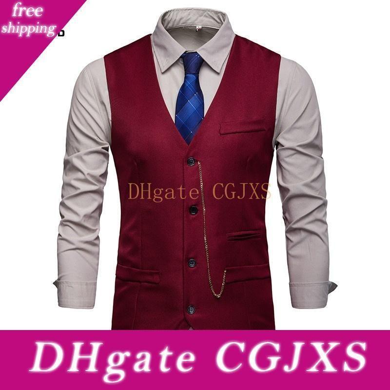Zogga hommes Gilets Mode Veste Costume Slim Fit Gilet Casual Male manches Gilet Homme Veste Gilet d'affaires formel 2019 Nouveau