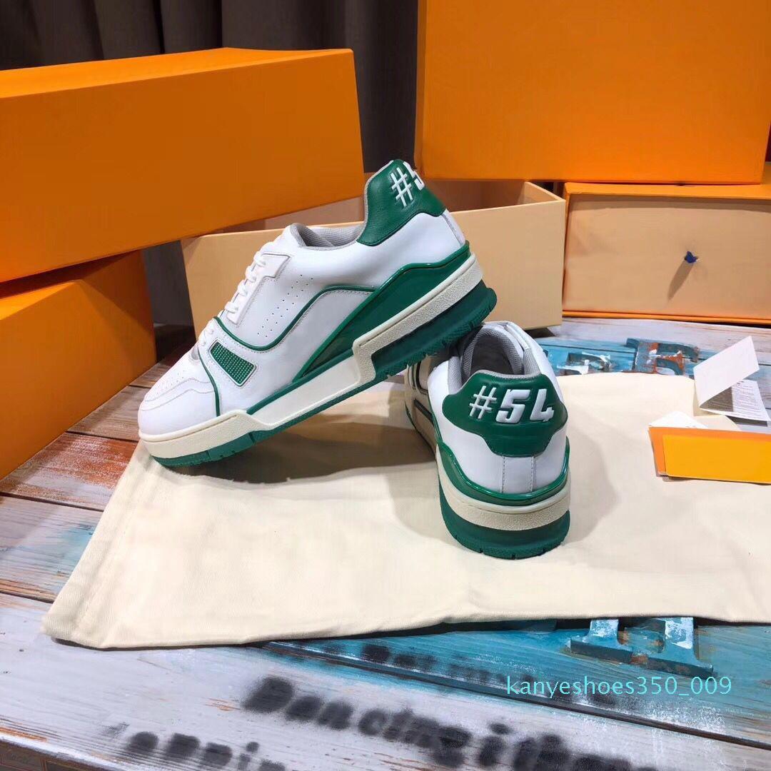 2020 Verde Plataforma Formadores Shoes Design Flores melhor qualidade Chaussures Preto Casual Sapatos Hot Sale k09