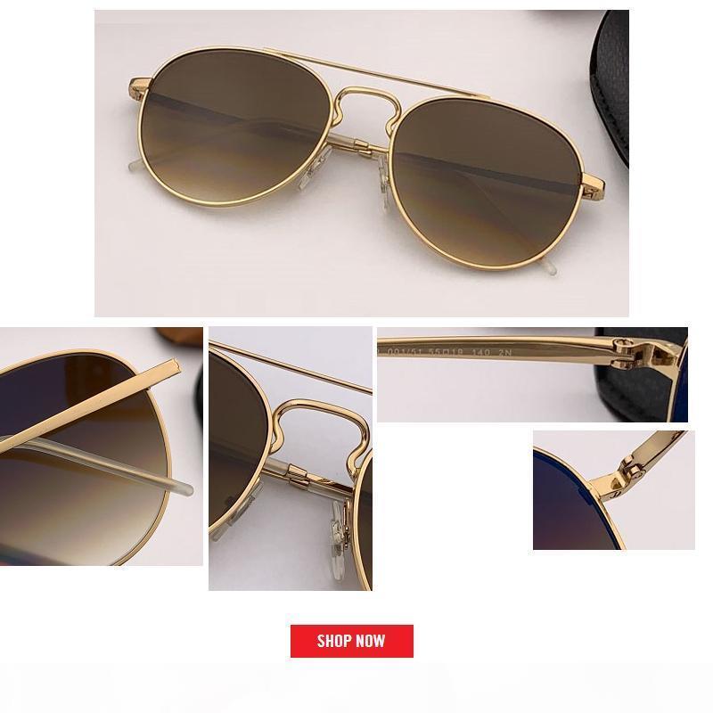 2019 Güneş erkekler kadınlar havacılık en kaliteli güneş gafas Sürüş Marka Tasarım UV400 koruması tonları oculos de sol hombre gözlük gözlük