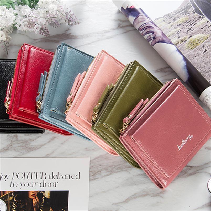 Sac de portefeuille pour femmes courtes Mode Petite pour femme Femmes Mesdames 2020 Zip de fermeture à glissière Porte-pièces Porte-pièce Portefeuille portefeuille Porte-monnaie DXLKX