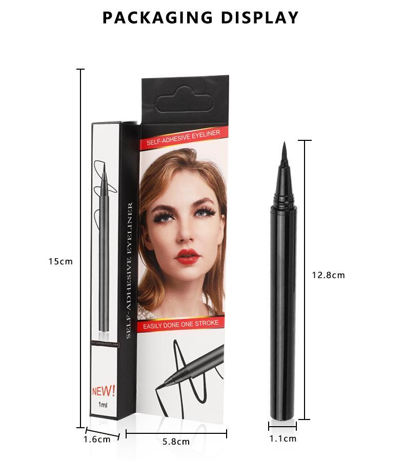 liner New Self Adhesive Eyeliner Waterproof Não Blooming secagem rápida Três em um olho Fixo Cílios 48 pcs DHL livre