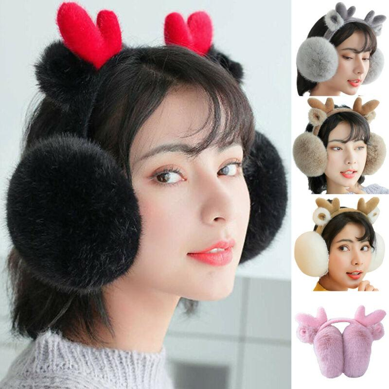 2020 Newest Hot Women Girls Cute Earmuffs Winter Warm Thick Plush Fluffy Ear Muffs Earlap Warmer