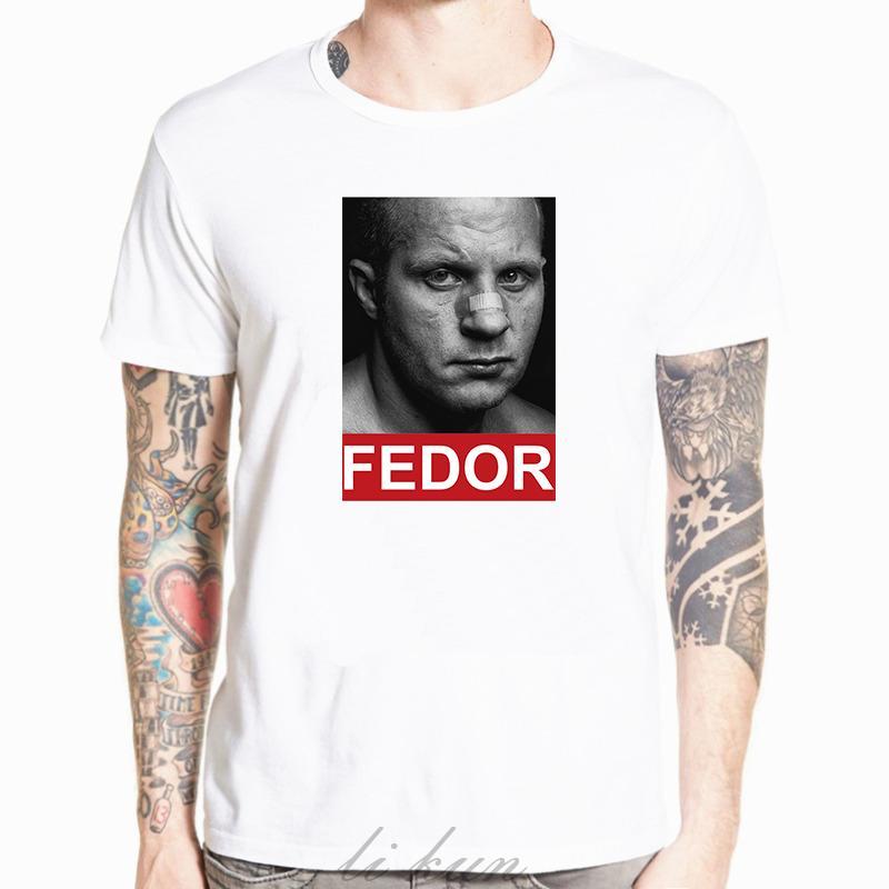 3D Fedor Emelianenko maglietta MMA maglietta degli uomini maglietta abbigliamento classico stile Fighter T fredda cime bianche bambini bianco