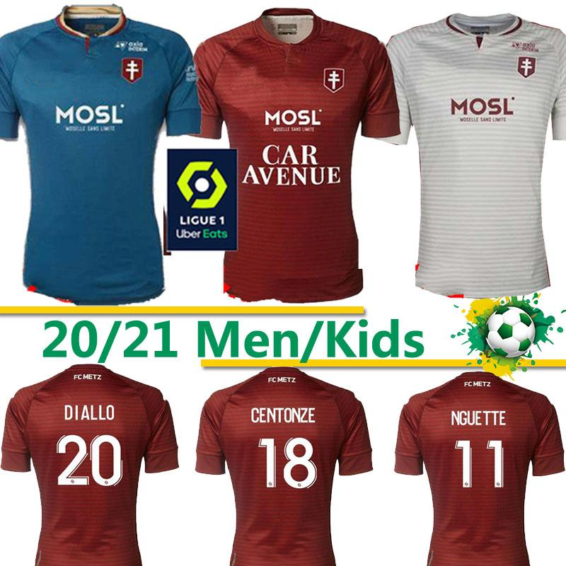 FC METZ FOOTBALL JERSEYS DIALLO 20 CentOnze 18 VAGNER 27 NIANE 7 FOFANA 6 HOME 2020 2021 JERSEY FOOTBALL Thaïlande 20 21