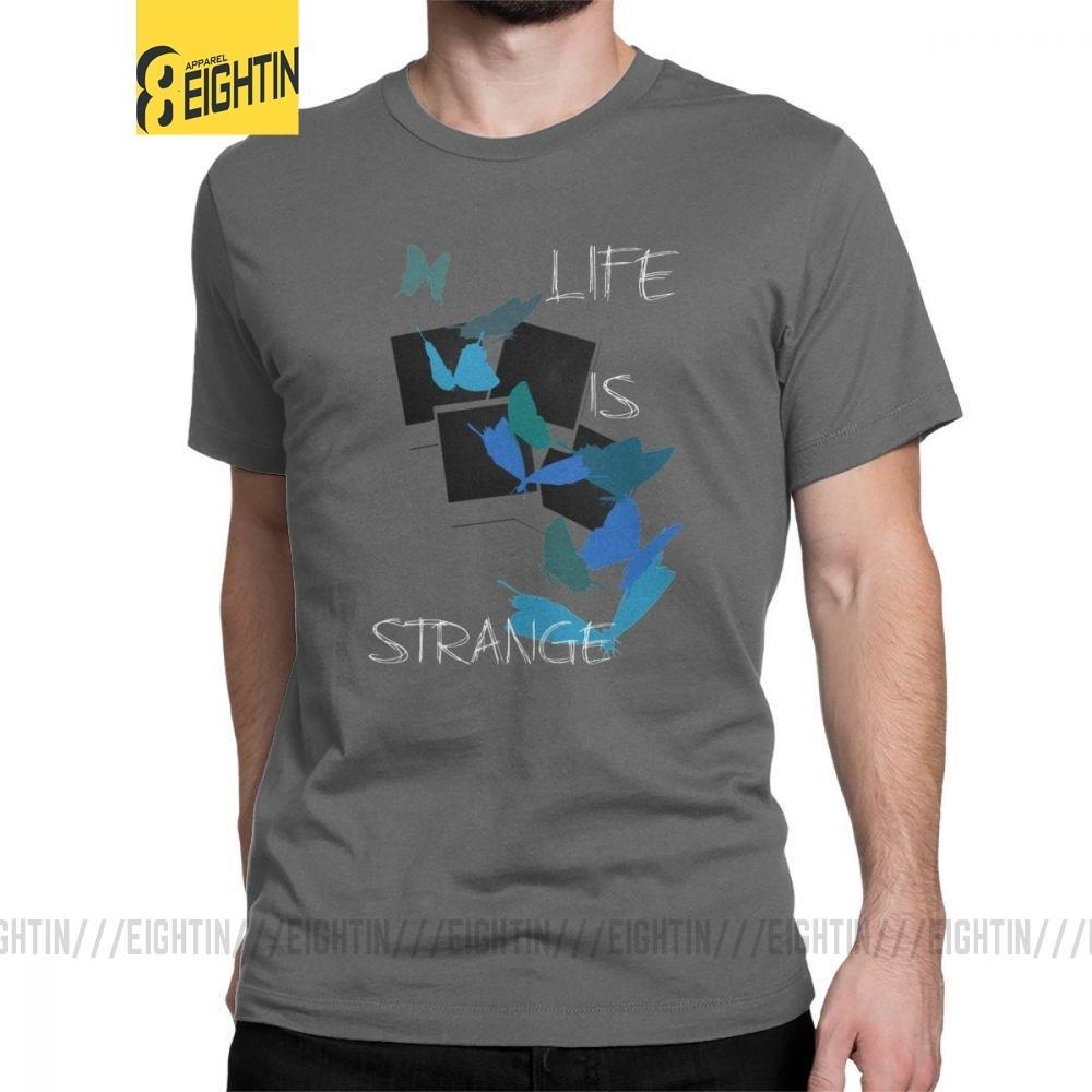 Das Leben ist seltsam Männer-T-Shirts Schmetterling Max Spiel Vintage-T-Shirt Kurzarm Rundhals T-Shirts aus reiner Baumwolle 4XL 5XL Kleidung