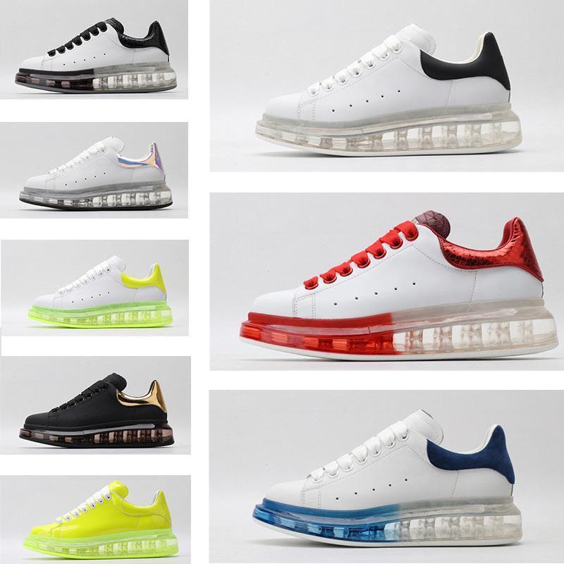 Hommes Femmes Sneaker Chaussures Casual Smart Platform Formateurs lumineux fluorescent Chaussures Serpent Retour Chaussures en cuir taille Hommes 36-45 Verser
