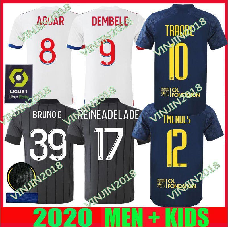 20 21 Maillot de pied Olympique Lyonnais Maillot de football 2020 2021 OL Lyon Mendes 70e anniversaire TRAORE MEMPHIS hommes tees de football kit