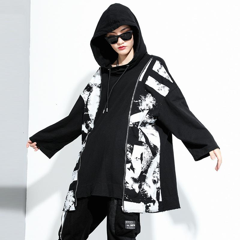 2020 Autumn new pullover personalized stitching large size sweater dark fashion brand mid-length sweater skirt 201181 PXWE