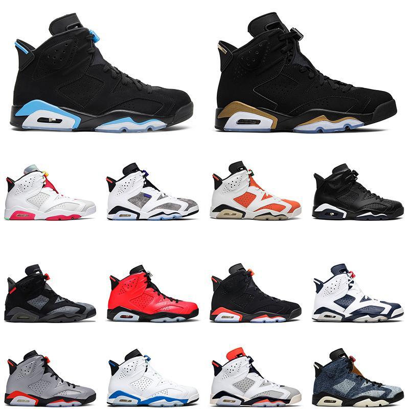 Air Jordan Retro 6 mens scarpe da basket 6s unc 2020 anatre DMP Oregon lepre armeggiare gatto nero a infrarossi mens Travis riflettenti allenatore sneakers sportive