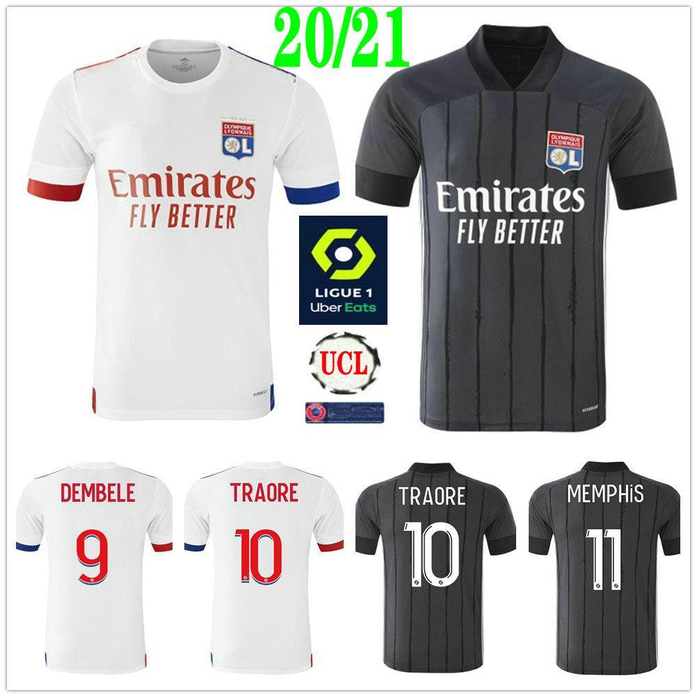 2020 قميص 2021 ليون لكرة القدم الفانيلة الأعور ممفيس تراوري FEKIR ديمبيلي مخصص 20 21 ليون مايوه دي القدم الكبار للأطفال لكرة القدم