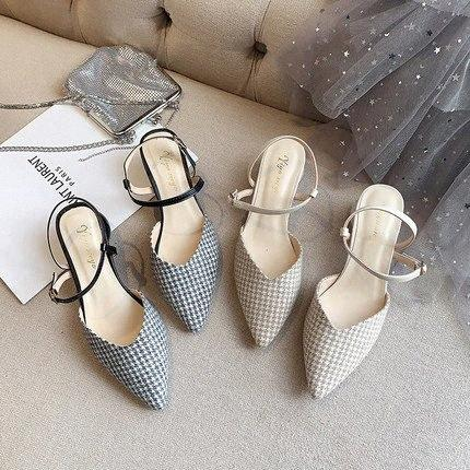 2020 Mode Femmes Chaussures à carreaux Lady Slingbacks AS0074 6ALU #
