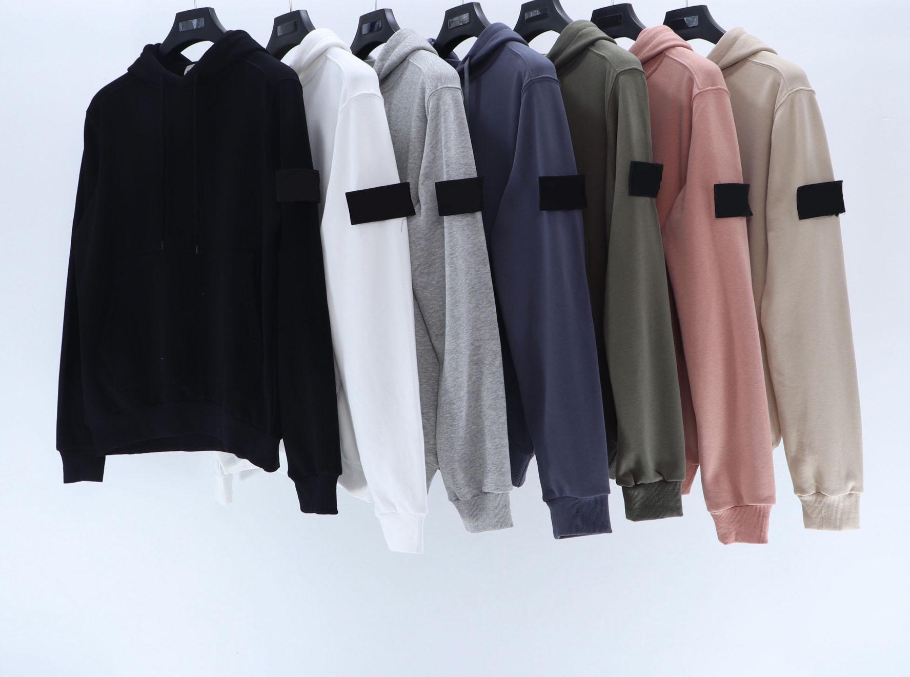 2020 أوروبا والولايات المتحدة من النوع الثقيل هوديي الشارع الرجال بلوزات قطع مريح الخياطة تصميم الأكمام إلكتروني الذراع التطريز OEM قميص من النوع الثقيل