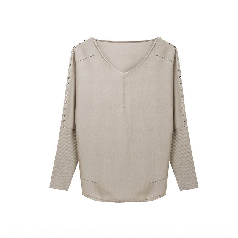 sonbahar stil süveter kış taban gömlek 2020 başlarında Sonbahar kısa V yaka düz renk Kore ve gömlek çok yönlü OydyY İnce kadın Triko