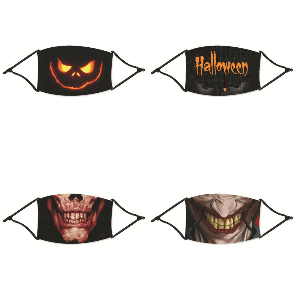 Cadılar Bayramı erkek ve kadın temizlenebilir nefes toz maskesi, anti-pus maskesi RX7L baskılı