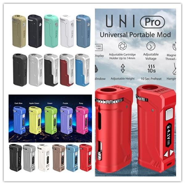 Оригинальный Yocan UNI Box Mod Yocan UNI Pro 650mAh Разогреть В. Переменный Напряжение батареи с магнитным 510 Адаптер для густого масла DHL