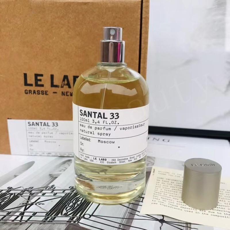 2020 Hot Le Labo Parfum neutre 100ml Santal 33 Bergamote 22 Rose 31 Le Noir 29 Longue Marque Eau de Parfum Douritant Parfum Saviver