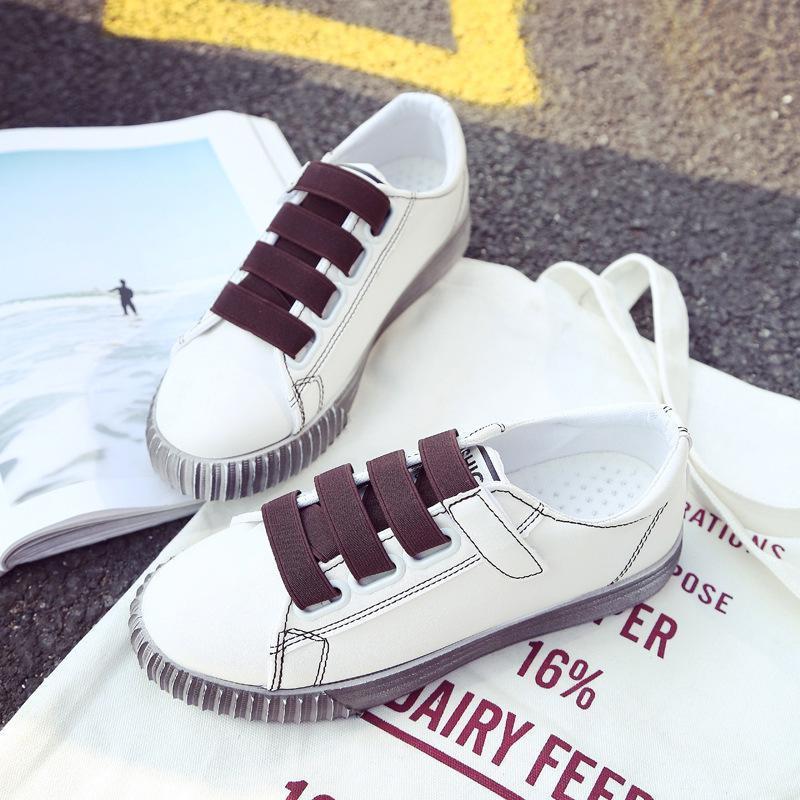 088 [Schuhe mit Klettverschluss Weiß] [Schuhober] PU-Leder [Sohle] Rubber [Schuhe