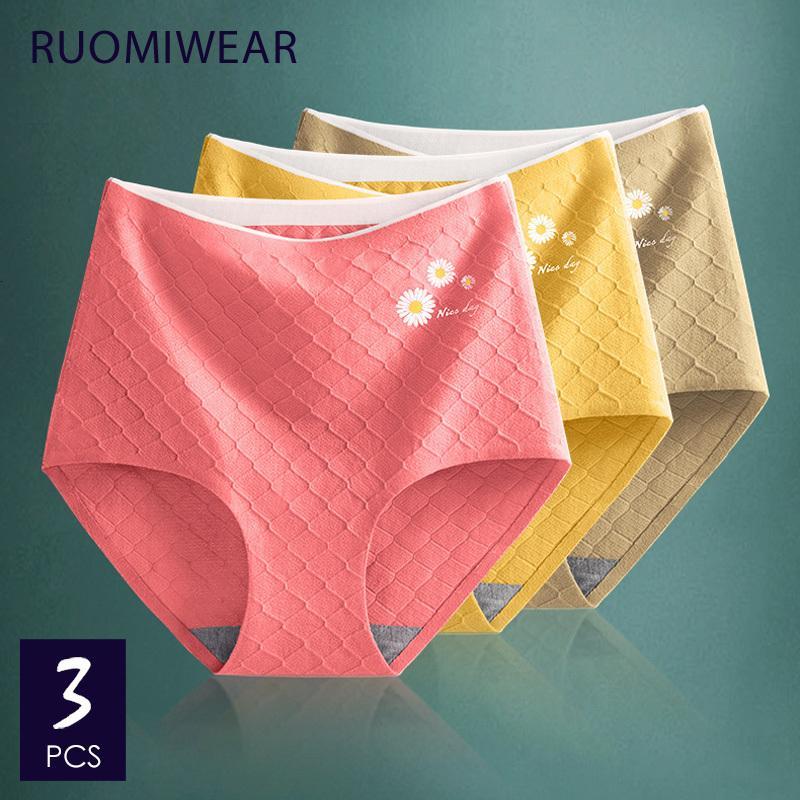 Cuecas emagrecimento Shaping Feminino Briefs alta qualidade Lingerie Hips Underwear push RUOMIWEAR Mulheres cintura Cotton Panties