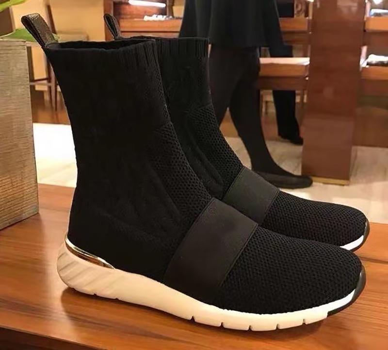 Donne Archlight Sneaker Stivali Silhouette Stivali Stretch Tessuto Slip-on Snesker Stampa del fiore di alta signore calza casuale con scatola