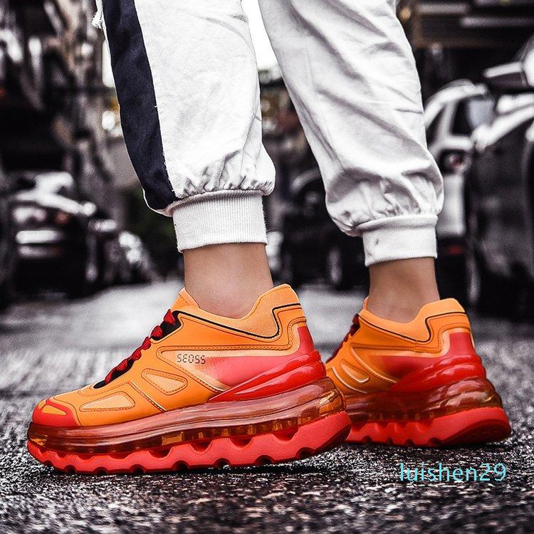 Hip Hop Designer Mens scarpe scarpe casual Uomini Tenis Sapato Masculino Uomini Chunky Sneakers carrello Man fondo spesso Tenis Masculino L29
