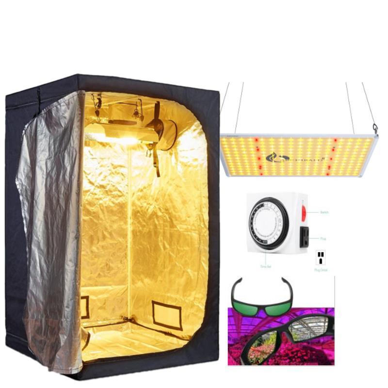 110W الطيف الكامل LED تنمو الخفيفة + 24'x24''x56 '' تنمو خيمة + التبديل الموقت + نظارات النظارات النمو المائية
