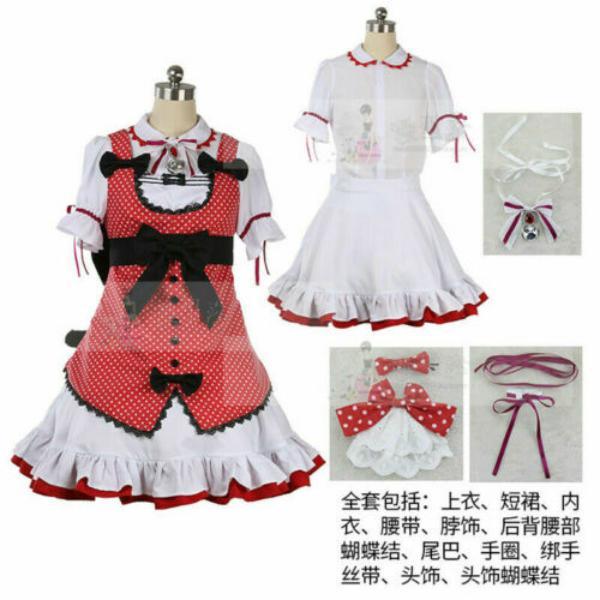 Anime Uniforme NEKOPARA costume Chocolat Cosplay Lolita Costume da cameriera