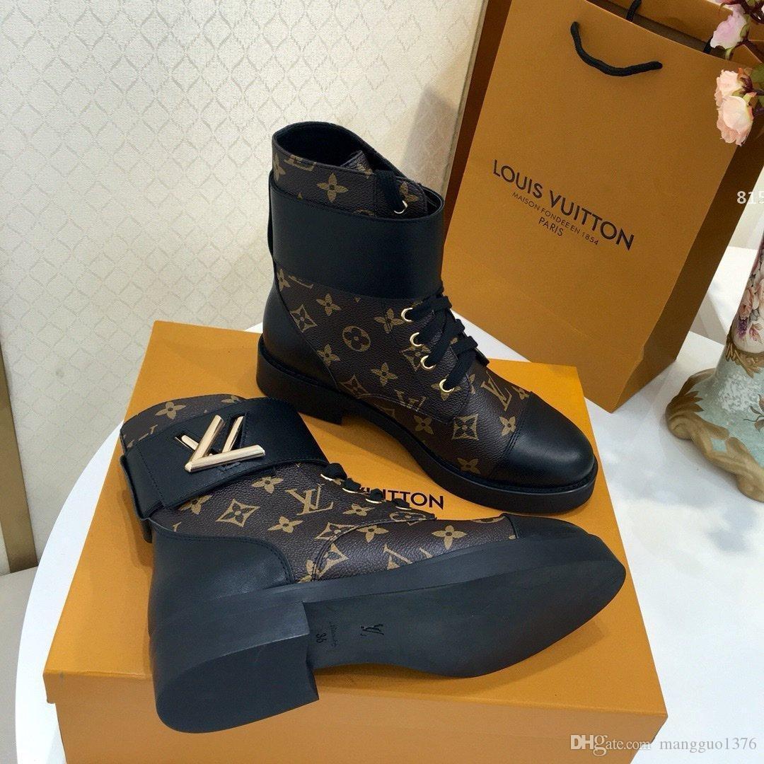 Luxus-Designer-815 Laureate Plattform Luxusdamenschuhe Desert Boot Mode Winter Schnee Stiefel Damen New Warm Plus Size Stiefeletten für Wo