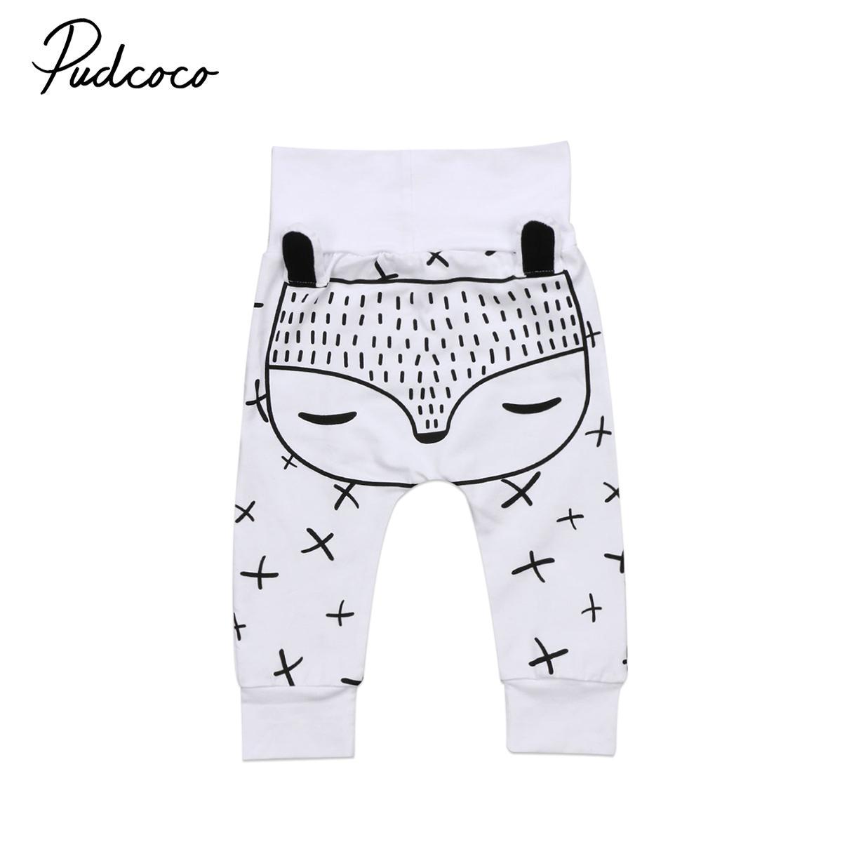 Kids Toddler Newborn Baby Boys Girls Long Harem Pants Trousers Leggings Fox Bottom MX200811