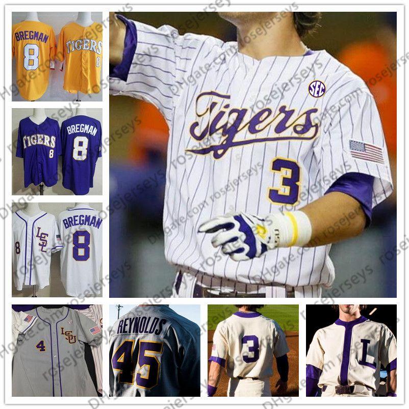 Custom 2020 LSU Tigres Baseball Qualquer nome número 2 Daniel Cabrera 8 Antoine Duplantis Homens Juventude Kid Stitched Jersey 4xl